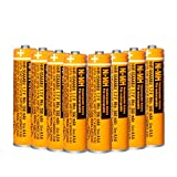 8 PCS NI-MH AAA Rechargeable Battery 1.2V 550mAh for Panasonic Cordless Phone HHR-55AAABU Replacement Battery