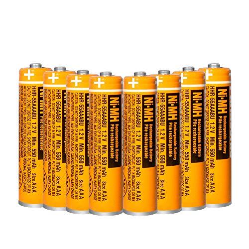 8 x Pilas Recargables AAA 550 mah 1.2v, baterias Recargables NiMH para telefonos inalambricos