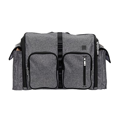JuJuBe Clone Multi-Functional Crossbody Messenger/Diaper Dad Bag, XY Collection - Gray Matter