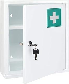 Unbekannt Armoire à Pharmacie en Acier, 31.5 x 10 x 36 cm