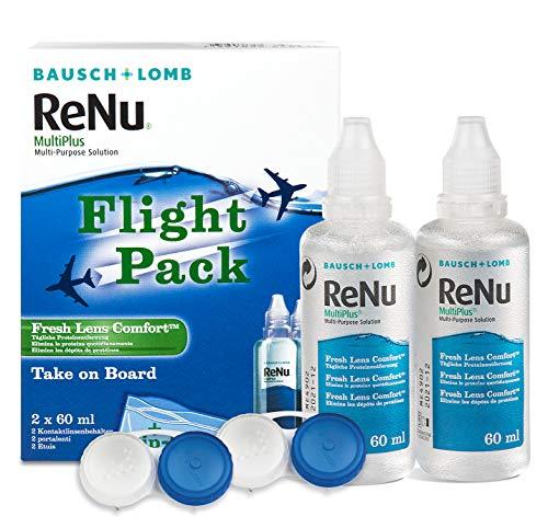 ReNu MultiPlus Pflegemittel für weiche Kontaktlinsen, Flight Pack, (2 x 60 ml)