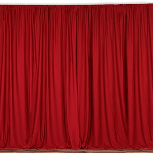 """lovemyfabric 100% Polyester Window Curtain/Stage Backdrop Curtain/Photography Backdrop 58"""" Inch X 108"""" Inch (1, Red)"""