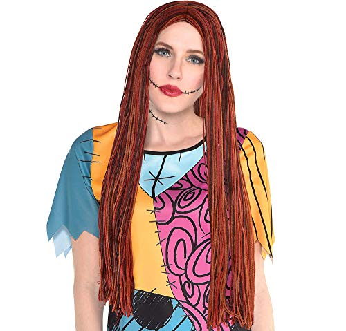 Party City Sally Wig for Adults, Halloween Costume Accessories, The Nightmare Before Christmas, One Size Fits Most