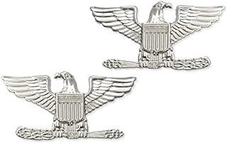 US Army Brite Shiny Metal Pin-On Rank