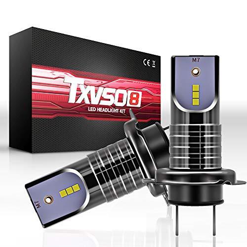 Kit de Reemplazo de Faro 26000LM LED para Auto de 110W H7 para Lámparas de Xenón Halógenas, 6000K Blanco, Apto para Todo Automóvil H7, 55W / Bombilla, 2 Piezas/Juego, con Decoder/Canbus
