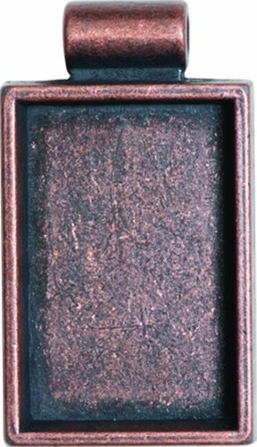 Lisa Pavelka Antique Copper Rectangle Bezel Settings, Nickel and Lead Free, 1 by JHB - Lisa Pavelka