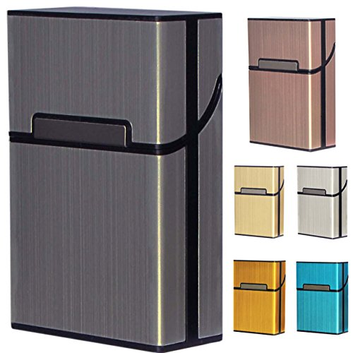 Diawell Diawell Zigarettenetui Edel Zigarettenbox Aluminium Etui Box Behälter mit Magnetverschluss für 20 Zigaretten Zigarettenschachtel Schachtel