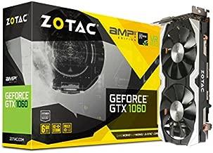 ZOTAC GeForce GTX 1060 AMP Edition, ZT-P10600B-10M, 6GB GDDR5 PCI Express 3.0 Dual-link DVI, Display Port, HDMI IceStorm Cooling Gaming Graphics Card