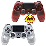 NQH Wireless-Controller für Playstation 4, Crystal Clear and Crystal Red