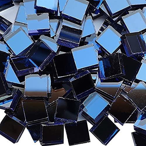 LinXIPU Fragmentos de Azulejos de Colores Artesanías de Azulejos de Cristal de Cristal Cuadrado Transparente Bricolaje Artesanía de Mosaico (Color : 8)