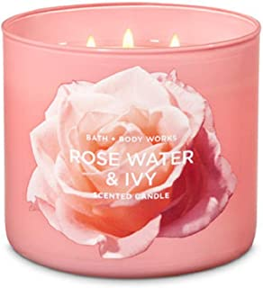 Bath & Body Works 3-Wick Candle in Rose Water & Ivy