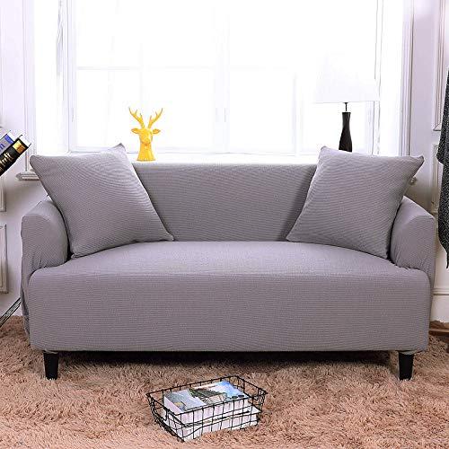 HXTSWGS Suave Funda de sofá para Sala de Estar,Funda elástica para sofá, Funda para sofá de salón, Funda elástica para Muebles-Gris Claro_90-140cm