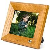 Kodak 8 Inch Wood Digital Picture Frame, 8GB Storage with Remote Control, Auto Slideshow Using USB & SD - Wood