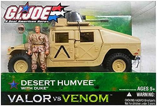 GI Joe Valor vs. Venom Desert Humvee Vehicle with Duke Action Figure [Toy] by G. I. Joe