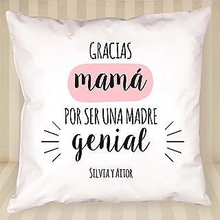 Calledelregalo Regalo para Madres: cojín para una mamá Genial Personalizado con Nombres