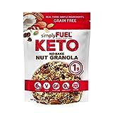 simplyFUEL KETO Granola   Low Carb Keto Cereal   1 g Net Carbs   No SUGAR   Gluten Free   Vegan   MCT Oil   Trail Mix   11 oz