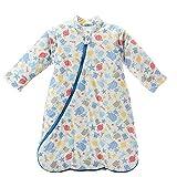 Mornyray Child Unisex Babyschlafsack Winter für Baby Baumwolle size M (Blue Robot)