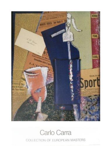 "Sifone Di Seltz by Carlo Carra 26.5""x22"" Art Print Poster"