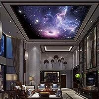 Bosakp 人格壁紙星空3D壁画寝室の壁カバー天井Ktvホテル 360X250Cm
