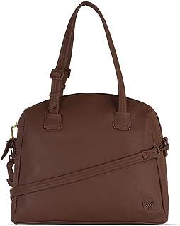 Baggit Autumn-Winter 2020 Faux Leather Women's Bowling Handbag (Brown) (Spangy)