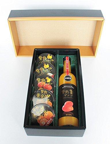 贅熟ジュース&ゼリー詰合(マンゴー飲料&ゼリー) ケレス沖縄 石垣島より産地直送ギフト 贅熟マンゴー50%飲料と3種のゼリーセット お中元、お歳暮等に最適