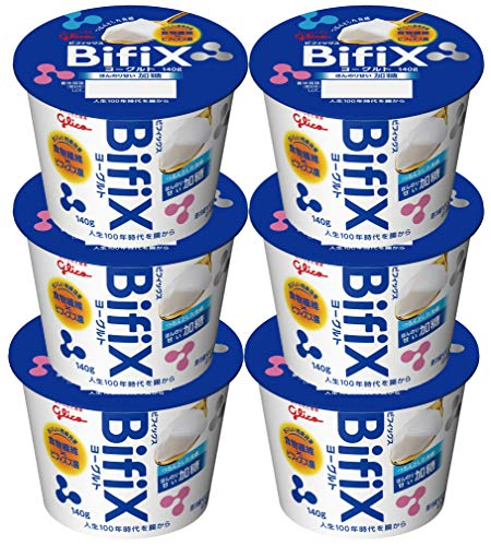 グリコ BifiX ヨーグルト ほんのり甘い加糖 140gX6個