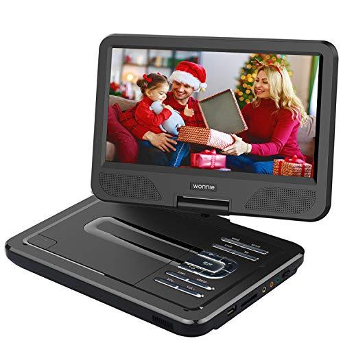 WONNIE 2019 Upgrade Lecteur DVD Portable 12,5'avec écran Rotatif à 270 °, Voiture avec Carte SD et Prise USB Format de Charge...