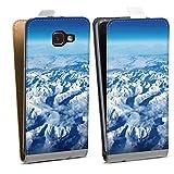 DeinDesign Étui Compatible avec Samsung Galaxy A5 (2016) Étui à Rabat Étui magnétique Nuage...