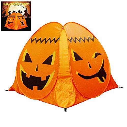 Halloween Tent for Kids Backyard Fun Pumpkin Play Game House Portable Removable Easy Set Up