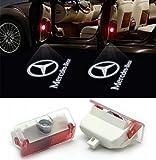 Willkommens-Licht, KVCH 1 Paar LED-Höflichkeits Einfache Installation Autotür Laser Projektor Logo Geist Schatten beleuchtet für BENZ GLK(X204) Benz B(W245) Benz A(W169 W168) mit Tür Polsterentferner