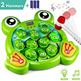 KKONES Music Super Frog Game Toddler Toys - 2 Hammers Baby Interactive Fun Toys Toddler Activities Games with...