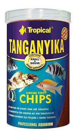 TANGANYIKA, sinkende Flocken / Chips, 1000ml / 520 g, für große Buntbarsche aus dem Tanganjikasee, reich an Zutaten