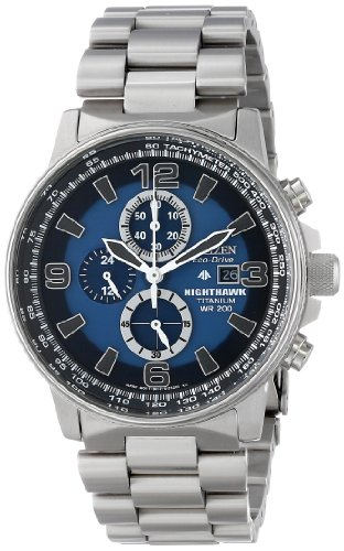 Citizen Men's CA0500-51L Eco-Drive Titanium Nighthawk...