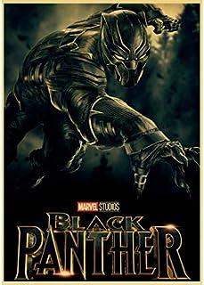 No Marvel Comics Super Hero Black Panther Movie Poster Marvel'S Hero Carteles E Impresiones Pintura Artística Decoración para El Hogar 50X70Cm Sin Marco