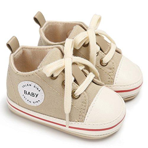 Allence Heißer Krabbelschuhe Lauflernschuhe Erste Wanderer Schuhe Baby Segeltuchschuhe Weiche Sohle Babyschuhe Säuglingskleinkind für Baby Mädchen Baby Jungen