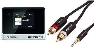 TechniSat DIGITRADIO 10 IR   DAB+ und Internetradio Adapter (WLAN, Farb Display, Bluetooth) schwarz/Silber & Amazon Basics Cinch Audiokabel, 3,5 mm Klinkenstecker auf 2 x Cinch Stecker, 1,22 m