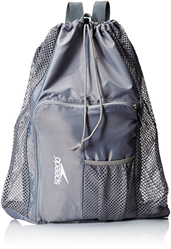 Speedo Unisex-Adult Deluxe Ventilator Mesh Equipment Bag , Frost Grey