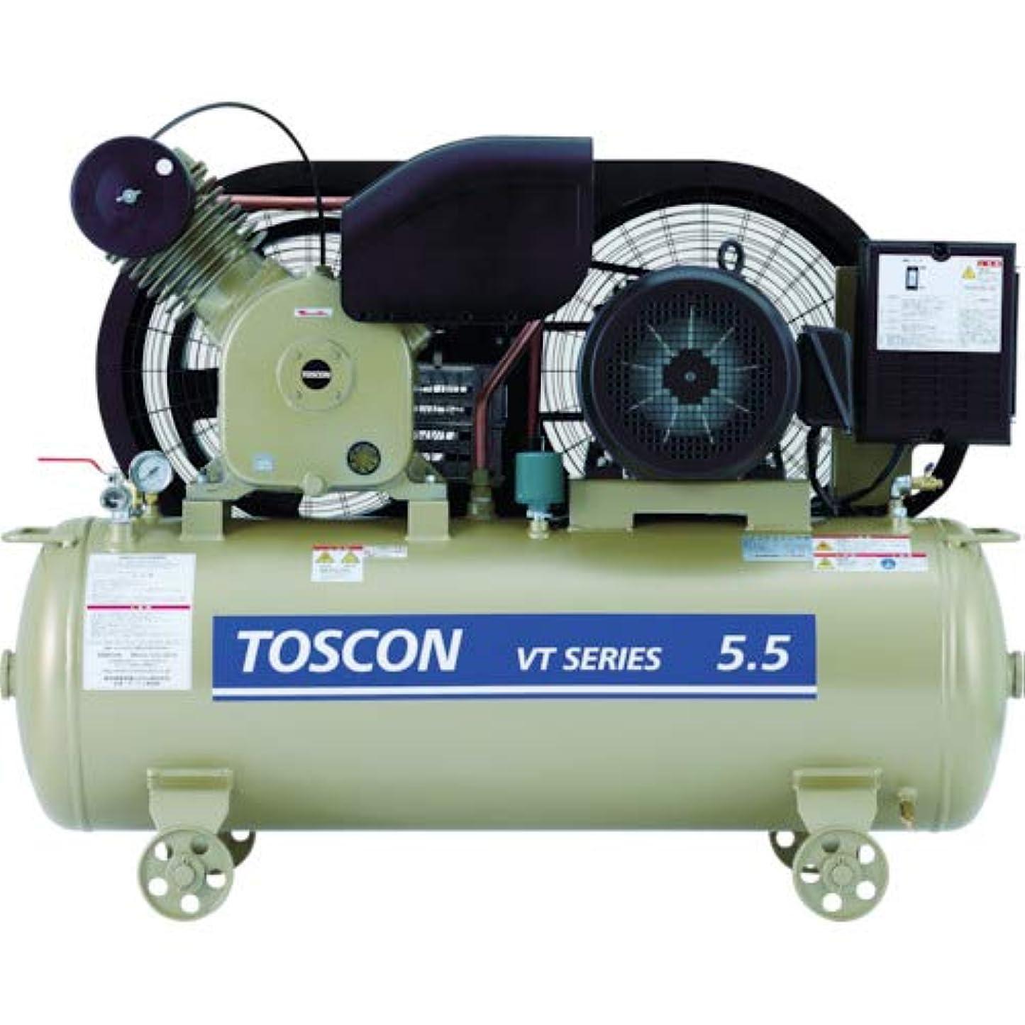 に賛成に同意する半円東芝 タンクマウントシリーズ 給油式 コンプレッサ 低圧 VT105-22T
