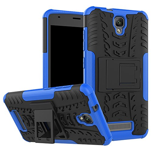 QiongniAN Funda para ZTE Blade L5 Plus,Teléfono con Soporte a Prueba de Golpes Funda para ZTE Blade L5 Plus Carcasa Case Funda Blue