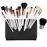 Make Up Pinsel 18 Stück Pinselset Make Up Pinsel Sets Make Up Buersten mit der Make up Pinsel Tasche weiß