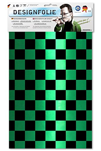 EASYPLOT 87-047-071-B - Designfolie Fun 3, Circa A4, Perlmutt grün/schwarz