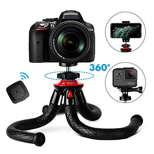 pas cher un bon Trépied flexible pour smartphone, mini trépied portable Fotopro avec télécommande Bluetooth, tête…