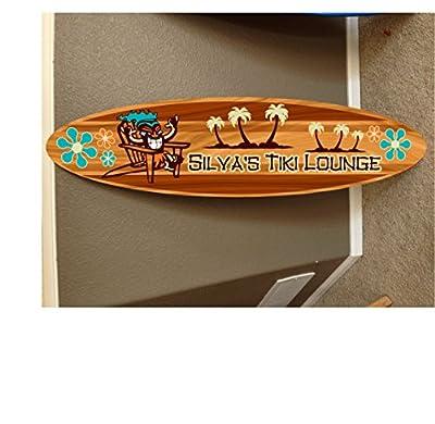 wall hanging surf board surfboard decor hawaiian beach surfing beach decor by