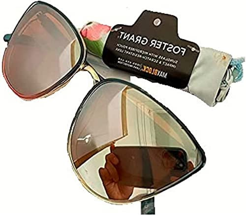 discount Foster outlet online sale Grant Women's Cat Eye Mirrored Sunglasses With popular Microfiber Pouch online
