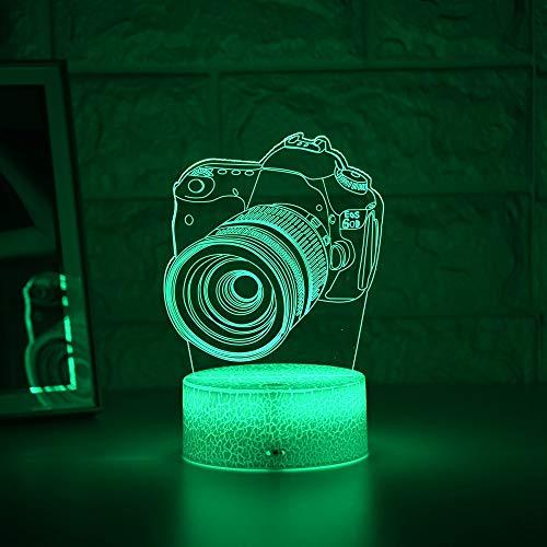 Neueste Kid Light Night Coole 3D LED Nachtlicht Kreative Tisch Nachttischlampe Romantisches Licht Kids Home Decoration Geschenk