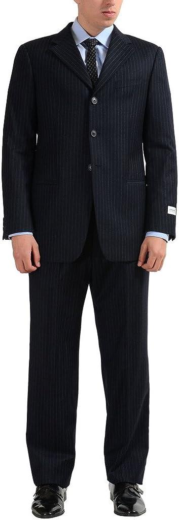 Armani Collezioni Men's Three Button 100% Wool Suit