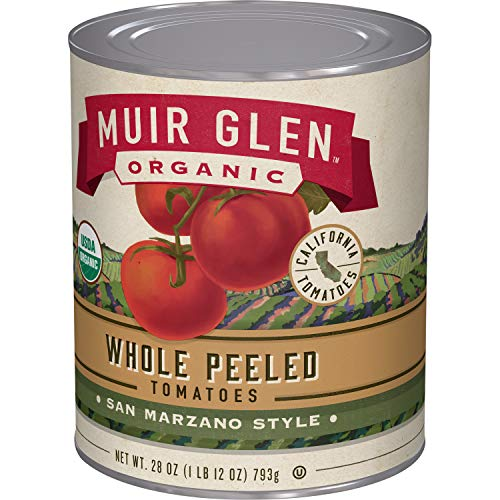 Muir Glen, Organic Whole Peeled Plum Tomatoes, 12 Cans, 28 oz