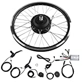 Focket Electric Bicycle Motor Kit, 20 inch Wheel 24V 250W Max Speed 25km/h E-Bike Conversion Kits Mountain Bike Powerful Motor Controller Set with LED Display Waterproof Wire for Road Bike(Front)