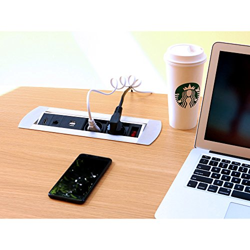 Multi Tischsteckdose 2 x Schuko Steckdose 2 x USB 1 x RJ45 1 x HDMI mit Schalter voll verkabelt