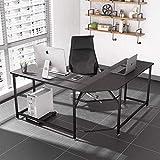 L-Shaped Corner Desk, Computer Desk, Dripex Home Office Writing Desk, Space-Saving, Easy to Assemble Computer Corner Desk, Black